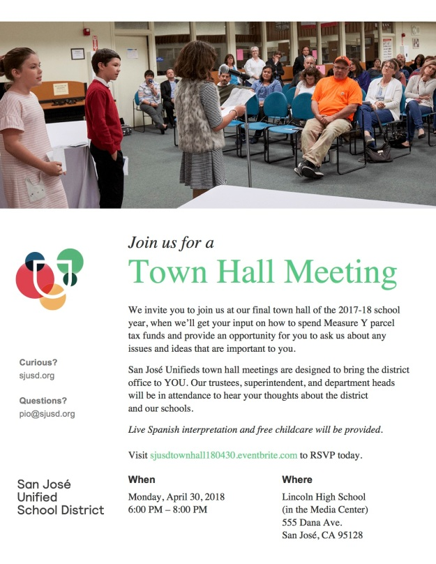 SJUSD Town Hall 180430 Flyer ENG